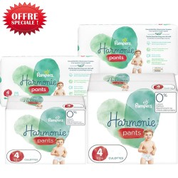 232 Couches Pampers Harmonie Pants taille 4 sur Les Looloos