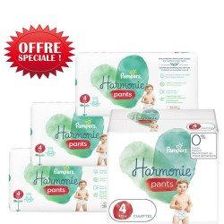 290 Couches Pampers Harmonie Pants taille 4 sur Les Looloos