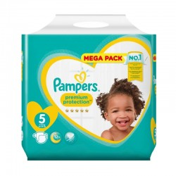 20 Couches Pampers Premium Protection taille 5 sur Les Looloos