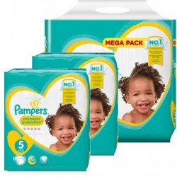 40 Couches Pampers Premium Protection taille 5 sur Les Looloos
