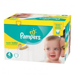 24 Couches Pampers Premium Protection taille 4 sur Les Looloos