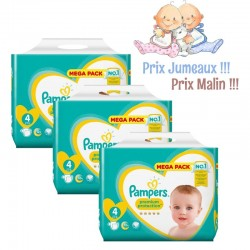 96 Couches Pampers Premium Protection taille 4 sur Les Looloos