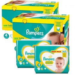 120 Couches Pampers Premium Protection taille 4 sur Les Looloos