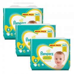 168 Couches Pampers Premium Protection taille 4 sur Les Looloos