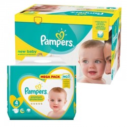 192 Couches Pampers Premium Protection taille 4 sur Les Looloos