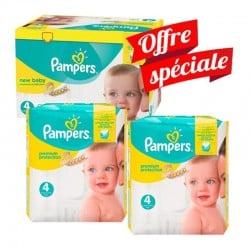 528 Couches Pampers Premium Protection taille 4 sur Les Looloos