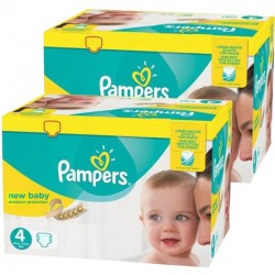552 Couches Pampers Premium Protection taille 4 sur Les Looloos