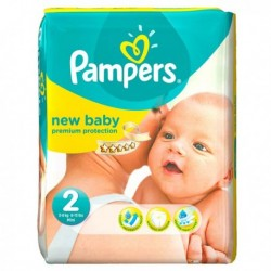 31 Couches Pampers Premium Protection taille 2 sur Les Looloos