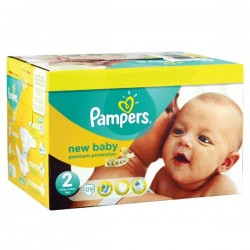 124 Couches Pampers Premium Protection taille 2 sur Les Looloos