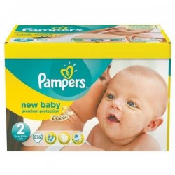 155 Couches Pampers Premium Protection taille 2 sur Les Looloos