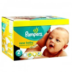 496 Couches Pampers Premium Protection taille 2 sur Les Looloos