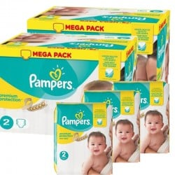 527 Couches Pampers Premium Protection taille 2 sur Les Looloos