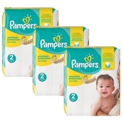 620 Couches Pampers Premium Protection taille 2 sur Les Looloos