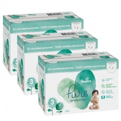 44 Couches Pampers Pure Protection taille 3 sur Les Looloos