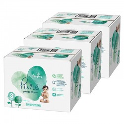 286 Couches Pampers Pure Protection taille 3 sur Les Looloos