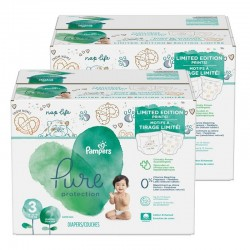 396 Couches Pampers Pure Protection taille 3 sur Les Looloos