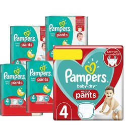 90 Couches Pampers Baby Dry Pants taille 4 sur Les Looloos