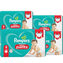 150 Couches Pampers Baby Dry Pants taille 4 sur Les Looloos