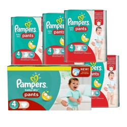 180 Couches Pampers Baby Dry Pants taille 4 sur Les Looloos