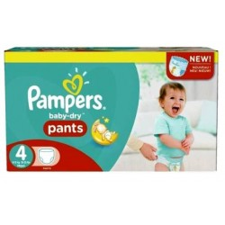 210 Couches Pampers Baby Dry Pants taille 4 sur Les Looloos
