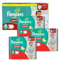 270 Couches Pampers Baby Dry Pants taille 4 sur Les Looloos