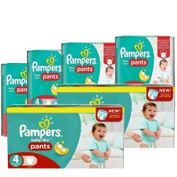 300 Couches Pampers Baby Dry Pants taille 4 sur Les Looloos