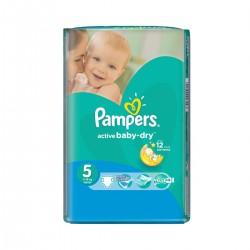 22 Couches Pampers Active Baby Dry taille 5 sur Les Looloos
