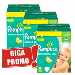 66 Couches Pampers Active Baby Dry taille 5 sur Les Looloos