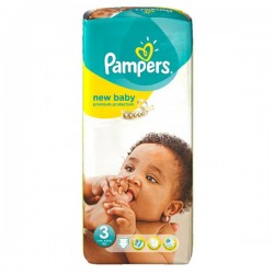20 Couches Pampers New Baby Premium Protection taille 3 sur Les Looloos