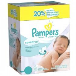Pampers - Sensitive 648 Lingettes Bébés - 12 Packs de 56 sur Les Looloos