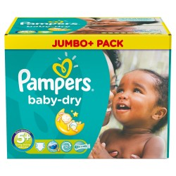 336 Couches Pampers Baby Dry taille 5+ sur Les Looloos