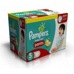 288 Couches Pampers Baby Dry Pants taille 5