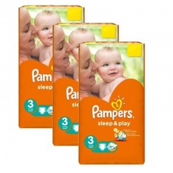 390 Couches Pampers Sleep & Play taille 3 sur Les Looloos