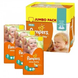 546 Couches Pampers Sleep & Play taille 3 sur Les Looloos