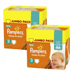 780 Couches Pampers Sleep & Play taille 3 sur Les Looloos